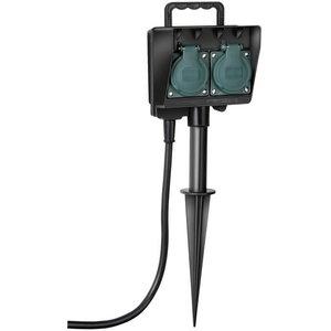 Socket outlet with earth rod IP44 2-way 1,4m H07RN-F 3G1,5 H07RN-F 3G1,5, Brennenstuhl