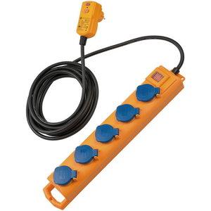 Extension socket 5-way SL 554 D FI, IP54, H07RN-F 3G1,5, 5m, Brennenstuhl