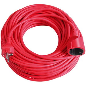 EXTENSION CABLE (VDE APPR.), RED, Brennenstuhl