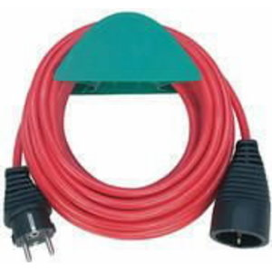 Extension cable (VDE appr.), red 10m, Brennenstuhl