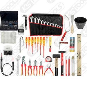Electricians premium tool kit, 132 pcs, Kstools