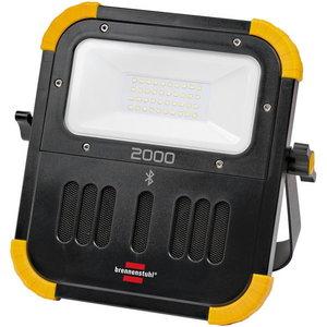 Töövalgusti LED BLUMO laetav IP54 Bluetooth kõlar 2100lm, Brennenstuhl