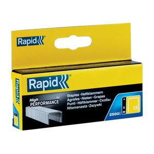 Skavas 13/8 2500 gab., 10,6x0,7mm, dzeltenas, kartona kastē, Rapid