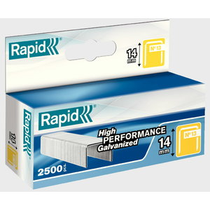 Klambrid 13/14 2500tk 10,6x0,7mm, kollane, pappkarbis, Rapid