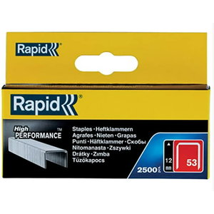 Staples 53/12 2500pcs, Rapid
