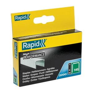 Kabės 140/6 2000vnt. 10,6x1,3mm, žalios, kartoninė pakuotė, Rapid