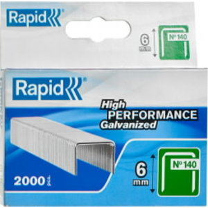 Skavas 140/6 2000 gab., 10,6x1,3mm, zaļas, Rapid