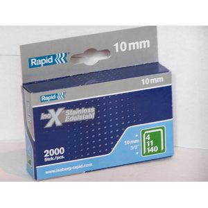 Staples 140/10 2000pcs, stainless, green, Rapid
