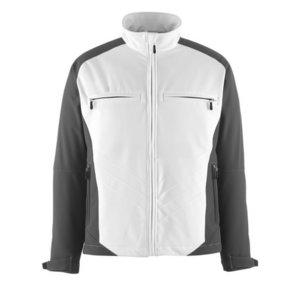 Elastīga jaka Dresden Softshell,  balta/tumši pelēka, Mascot