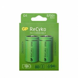 įkraunama baterija D/LR20, 1,2V, 5700mAh, ReCyko, 2 vnt., Gp