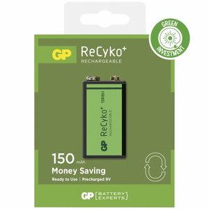 įkraunama baterija 6LR61, 9V, 150 mAh, ReCyko, 1 vnt., Gp