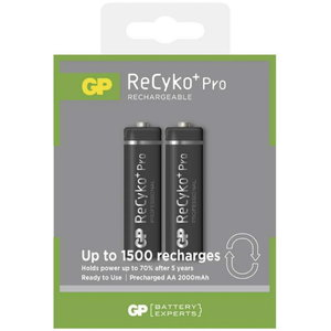 Rechargeable batteries AA/LR6, 1.2V, 2050mAh, ReCyko, 2 pc, GP