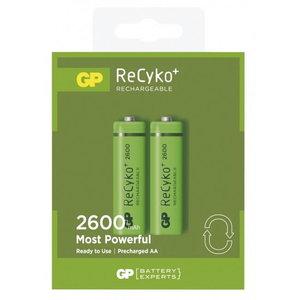 Lādējamas baterijas AA/LR6, 1,2 V, 2600mAh, ReCyko, 2 gab, Gp