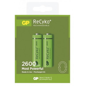 Rechargeable batteries AA/LR6, 1.2V, 2600mAh, ReCyko, 2 pc, GP
