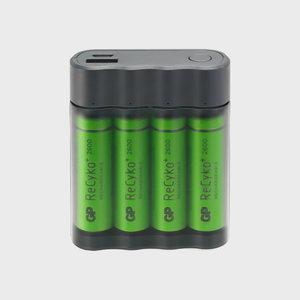 Charger GPX411 +4 pcs GP ReCyko AA 2600 mAh NiMH battery, GP