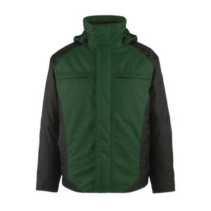Winter jacket  hood Frankfurt green/black M, Mascot