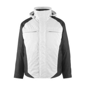 Jaka ar kapuci Frankfurt, balta/tumši pelēka, XL, Mascot