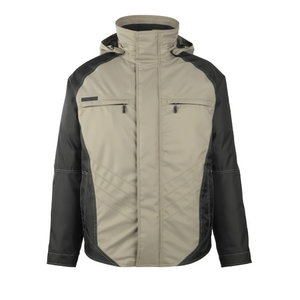 Winter jacket  hood Frankfurt beige/black, Mascot
