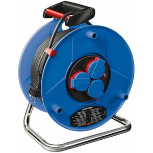 Cable reel plasticreel 25m 3VDE RR 3x1,5 GARANT rubber cable, Brennenstuhl