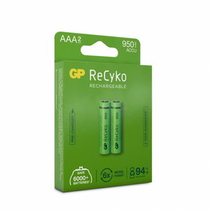 Rechargeable battery AAA/R03, 1.2V, 950 mAh, ReCyko, 2pcs., GP