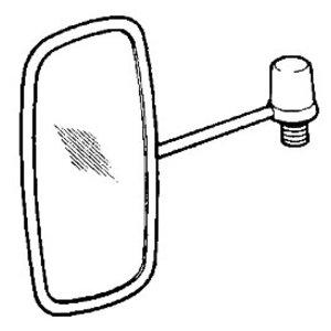 Mirror with bracket, JCB
