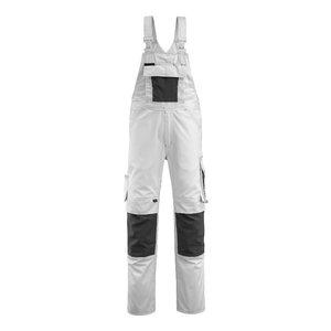 Bib-trousers Augsburg white/dark anthracite 82C54, Mascot