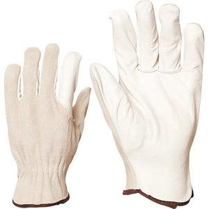 рабочие перчатки, из телячьей кожи, тыльная сторона ладони из мягкой кожи, размер 9, OTHER