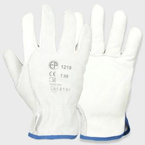 рабочие перчатки, из телячьей кожи, тыльная сторона ладони из мягкой кожи, размер 11, OTHER