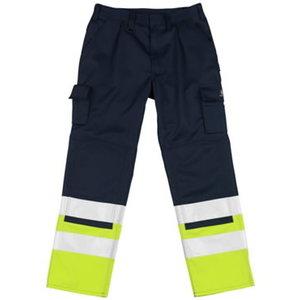 Tööpüksid Patos kõrgnähtavus EN471 t.sinine/kollane 82C56, Mascot