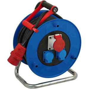 Garant CEE 1 IP44 cable reel for site & industry 20m H07RN-F, Brennenstuhl
