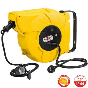 Automatic cable reel 16+2m, 230V, wall mounted, 3x1,5mm, Brennenstuhl