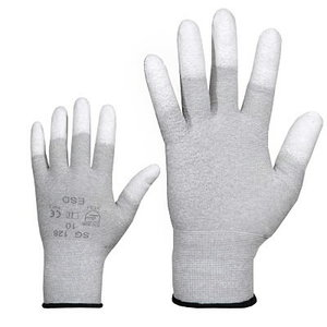 Cimdi, neilona, ESD, PU pirkstu gali. 11