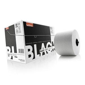 Black system rolls white, 2- ply, 100 m, Satino