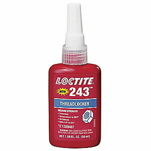 Keermeliim (keskmise tugevusega, 26Nm) LOCTITE 243, Loctite