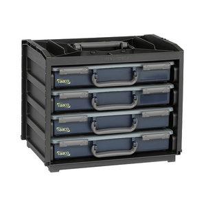 Sortimendikohvri riiul HandyBox 55x4 + 4 kohvrit, Raaco