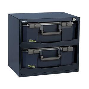 Lukustatav riiul koos 2 x carrylite 150-9 kastiga