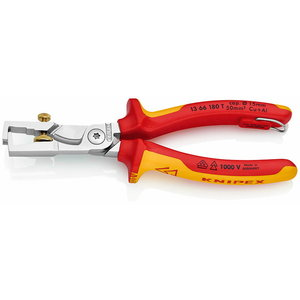 Insulation Stripper with Cable Shears Ø 5 mm VDE, 180mm, Knipex