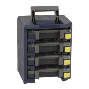 HandyBoxxser 4x4x4 su 4x boxxser 55 4x4-9 mėlynas, Raaco