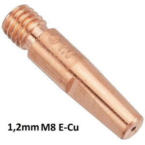 Kontaktinis antgalis E-Cu (Kemppi) M8x35mm (34,5mm) 1,2mm, Binzel