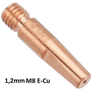 Kontaktinis antgalis E-Cu (Kemppi) M8x34,5mm 1,2mm, Binzel