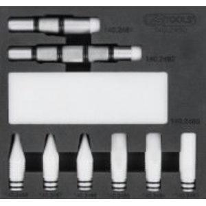 Kit of teflon wedges for varnished surface, 10 pcs, Kstools