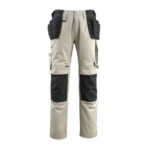 Darbinės kelnės su kišenėmis Bremen chaki/juoda 82C48, Mascot
