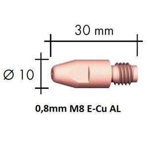 Kontaktsuudmik E-Cu Al M8x30x10 - 0,8mm, Binzel