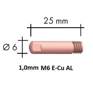 Kontaktsuudmik Al M6x25x6-1,0mm E-Cu, Binzel