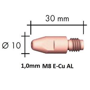Kontaktsuudmik E-Cu Al M8x30x10 - 1,0mm, Binzel