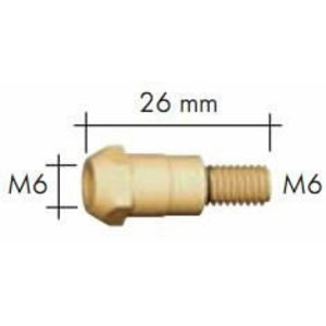 Kontaktinio antgalio laikiklis MB 24/240 M6/M6 26mm, Binzel