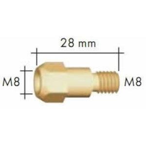 Kontaktinio antgalio laikiklis M8/M8 28mm degikliui MB 36, Binzel