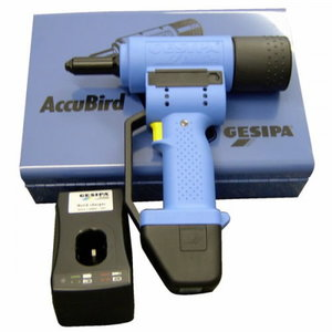 Electric rivet Accubird with battery, Gesipa