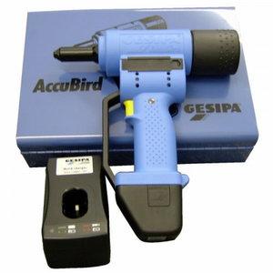 Kniediklis AccuBird, akumuliatorinis, metalinėje dėžėje, Gesipa