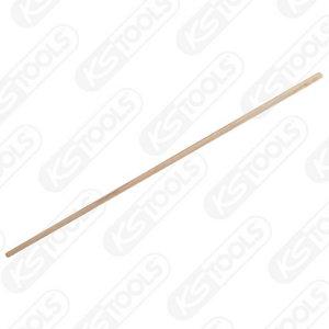 Wooden handle f. broom, 1500x28mm, KS Tools